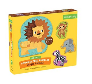 Jungle Animals My First Touch & Feel Puzzles