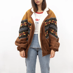 National style Printed Color Women's Cotton Jacket