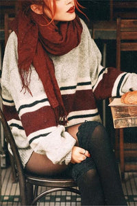 Casual Loose Stripst Long Sweater