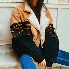 Load image into Gallery viewer, Ladies Fashion Casual Patchwork Lapel Jacket