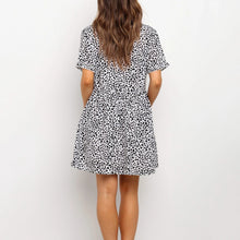 Load image into Gallery viewer, Vacation Short Sleeve Leopard Dress