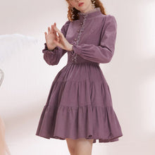 Load image into Gallery viewer, Ladies elegant vintage long-sleeved dress