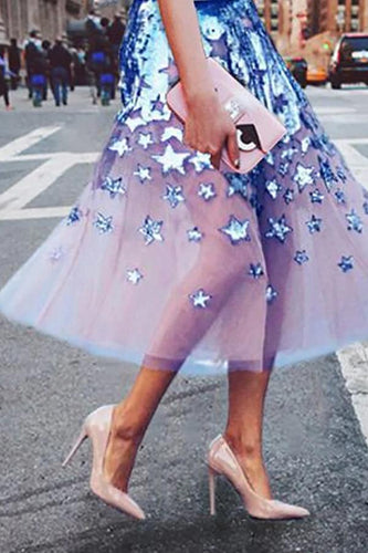 Stylish And Elegant Printed Organza Skirt