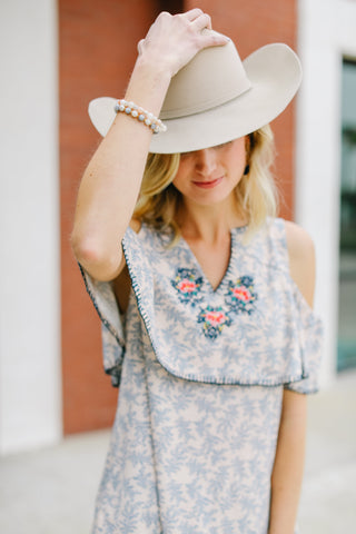 Hattie Now Designs Rodeo Look Cowboy Hat Adalea tassel Earrings Adelaide's Boutique Clothes