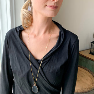 Lea - Obsidian Stone  Necklace