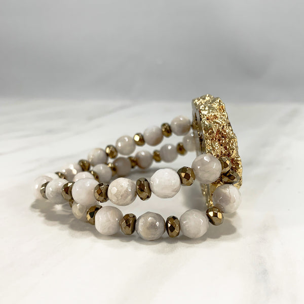 Dolly Iconic Bracelet - Gold and White
