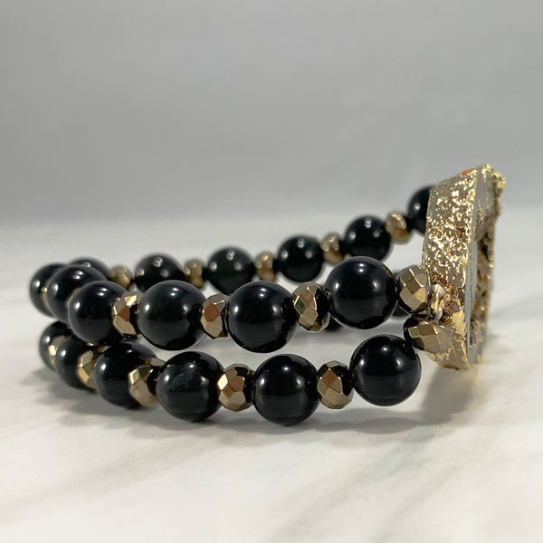 Dolly Iconic Bracelet - Gold and Black