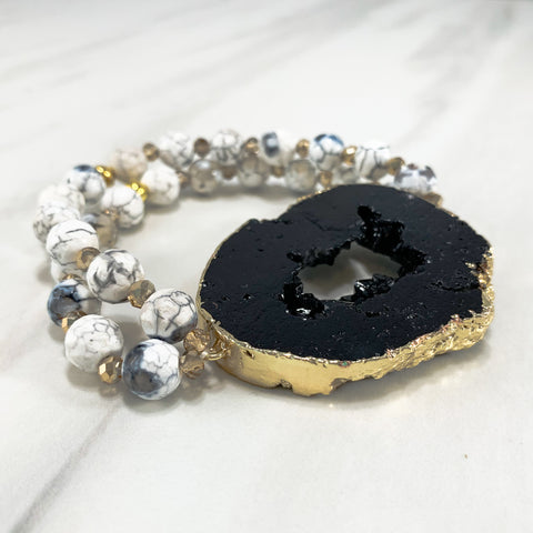 Dolly Iconic Bracelet - Black & White