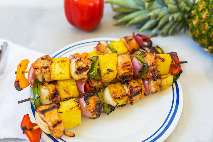 Hawaiian BBQ Chicken Kabobs
