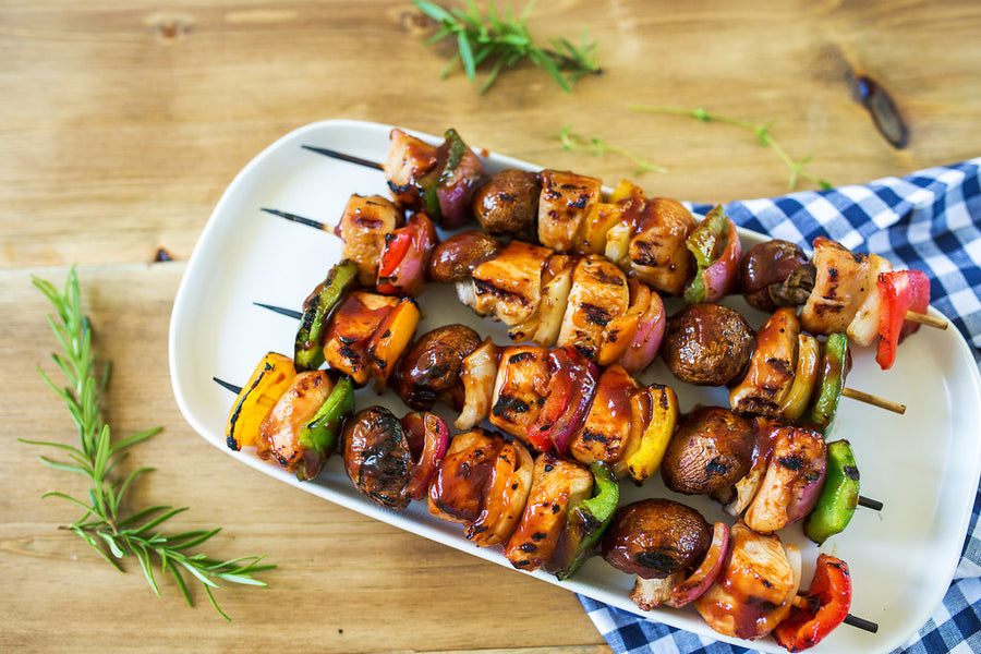 Sweet Honey BBQ Chicken Kabobs