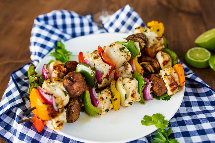 Zesty Cilantro Chicken Kabobs