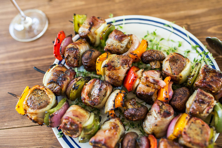 Bacon Wrapped Filet Mignon Kabobs