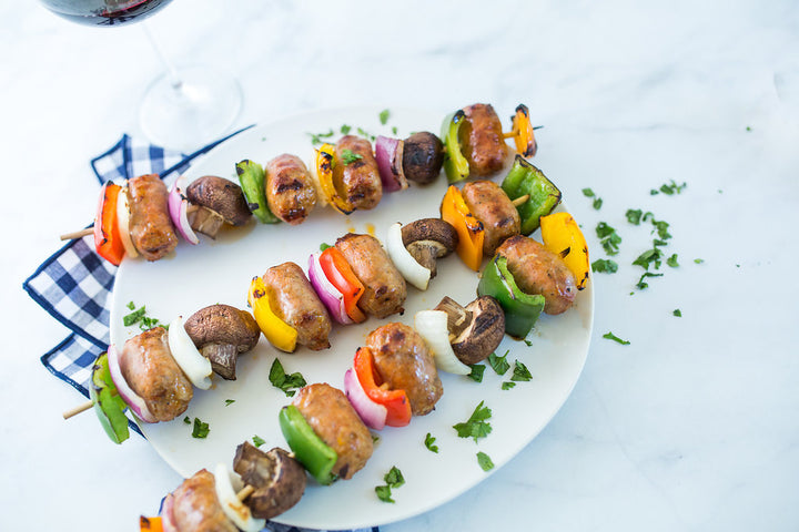 Chipotle Lime Pork Sausage Kabobs