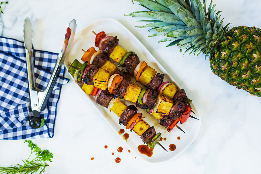 Hawaiian BBQ Top Sirloin Kabobs