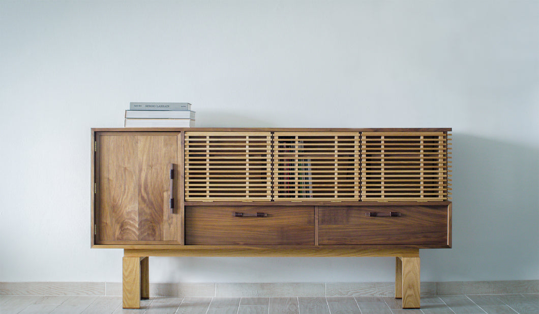 Louvered Credenza