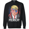 Image of Donald Trump Merica Flag 4th Of July Walmart Tee