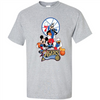 Image of Mickey Goofy Donald Loves 76ers Basketball Fans Merch Tee - T-Shirt