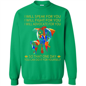 Autism Awareness Elephant I Will Speak For You I Will Fight For You Walmart Tee
