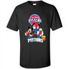 Image of Mickey Goofy Donald Loves Pistons Basketball Fans Merch Tee - T-Shirt