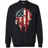 Image of American flag Millennium falcon shirt