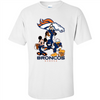 Image of Mickey Goofy Donald Loves Broncos Football Fans Merch Tee - T-Shirt