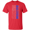 Image of Autism Awareness American Flag Graphic  T Shirt
