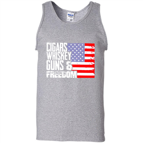 Cigars Whiskey Guns And Freedom Walmart Tee