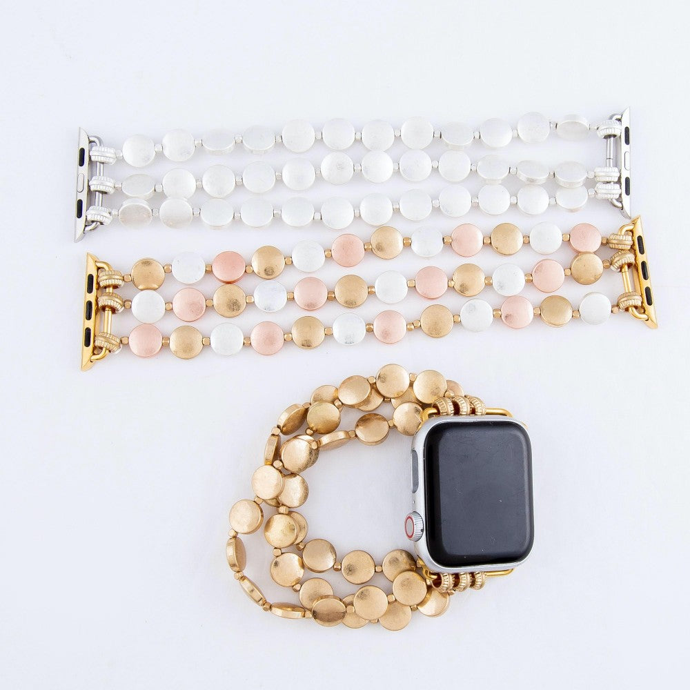 Beaded Stretch Watch Band Bracelet Smart Watch