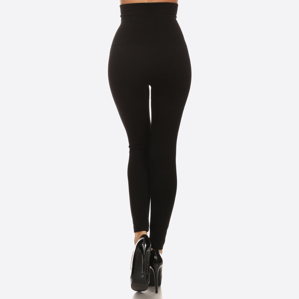 Women's High Waisted Cotton Compression Leggings Long skinny leg