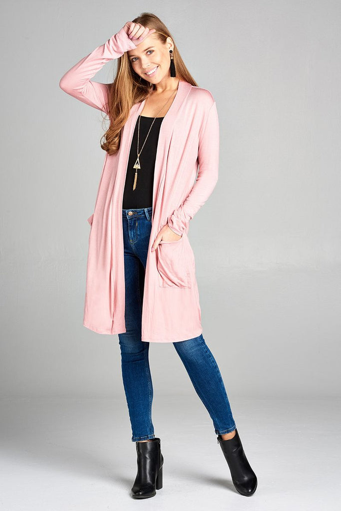 DOMINIQUE Long sleeve open cardigan