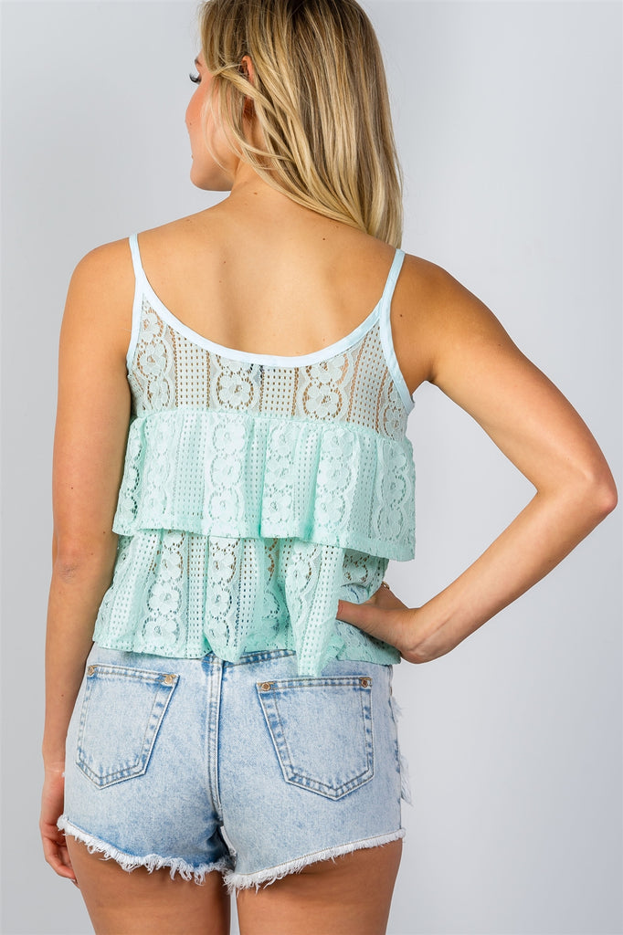 TRACY Double layer cropped cami top