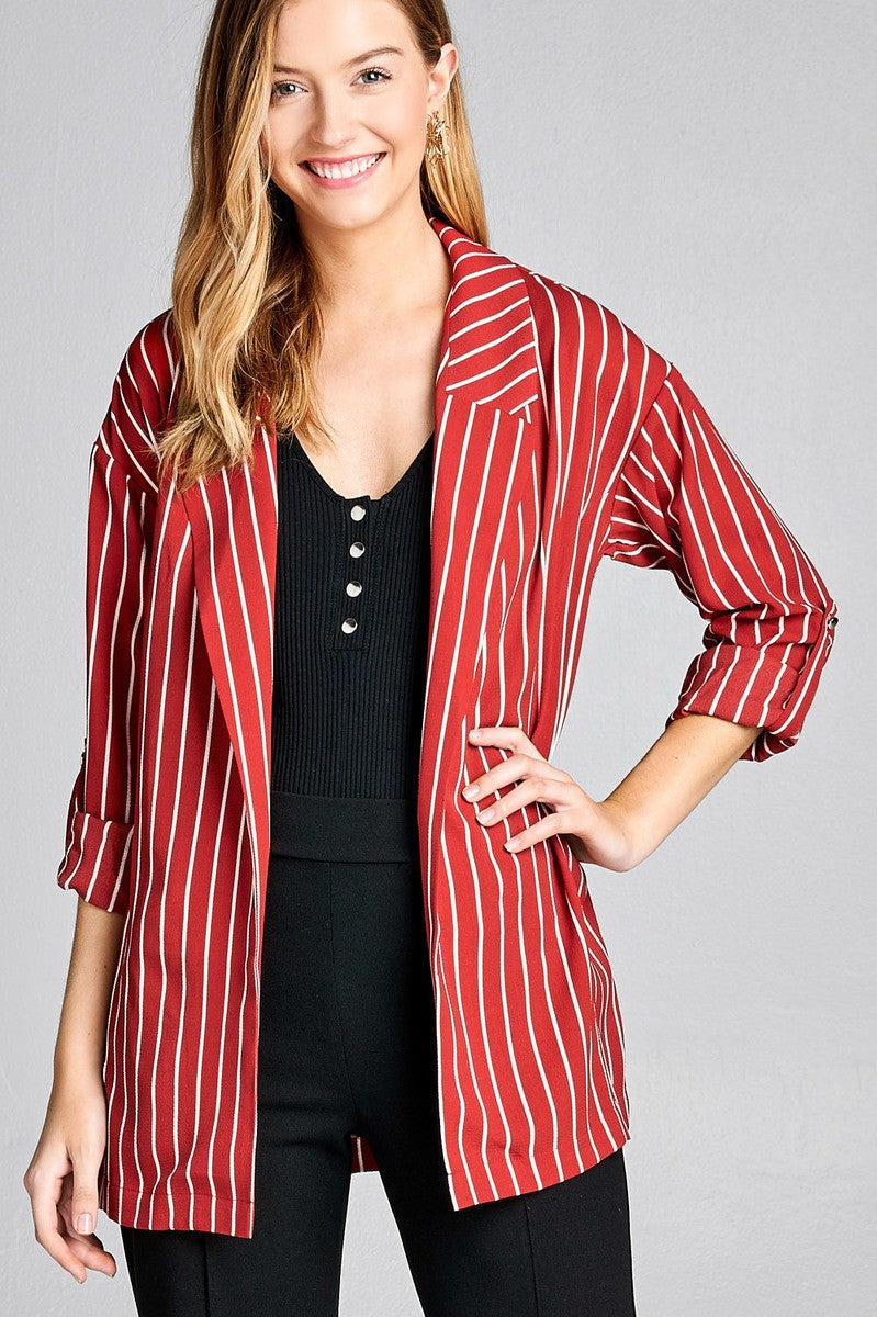 TIFFANI  3/4 roll up sleeve jacket
