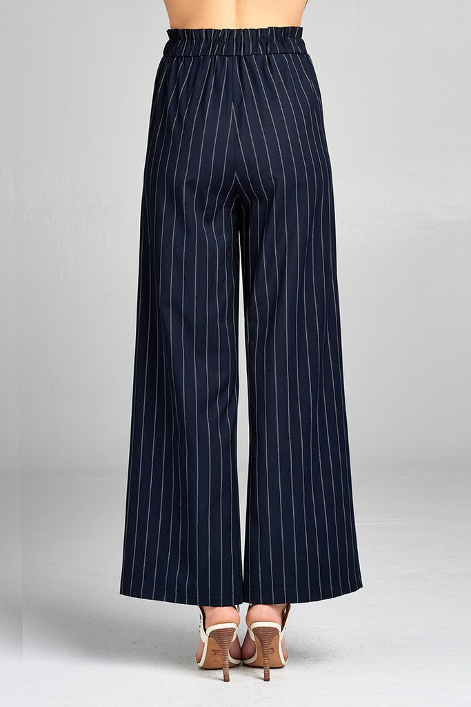 CONNIE high waist long leg wide pants