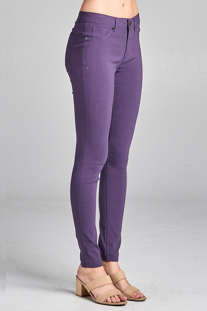 SARA basic 5 pocket shape long pants