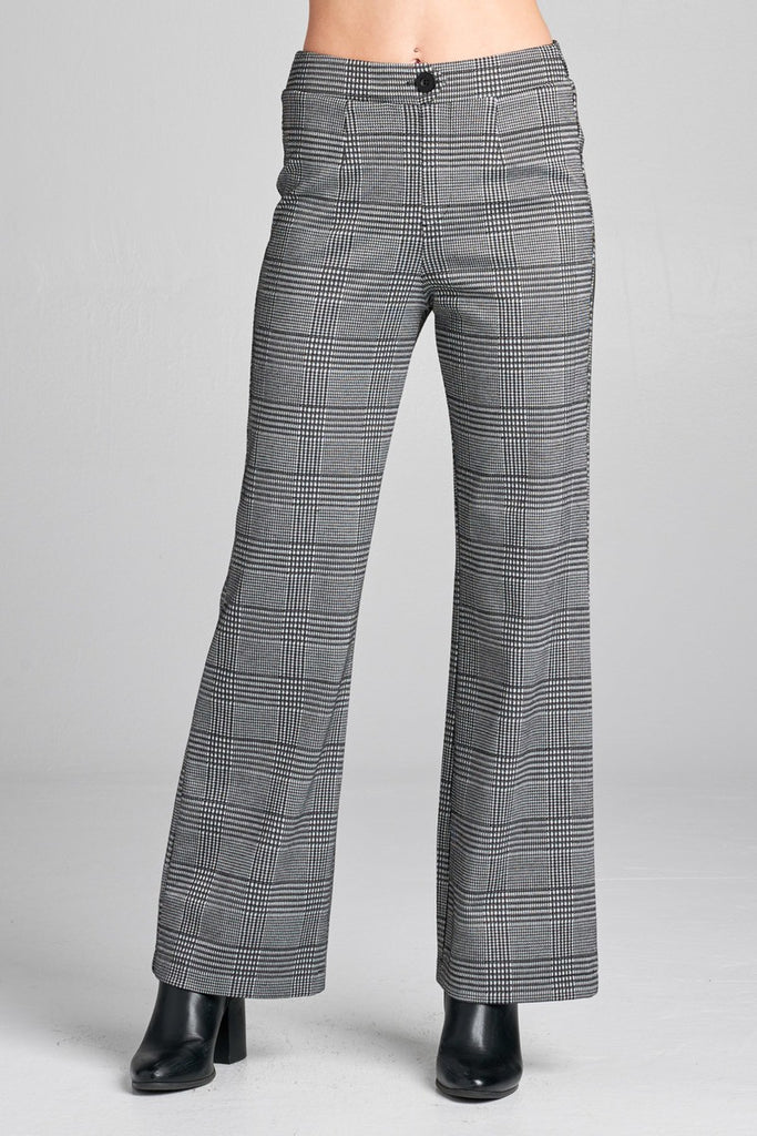 BRET long wide check pants