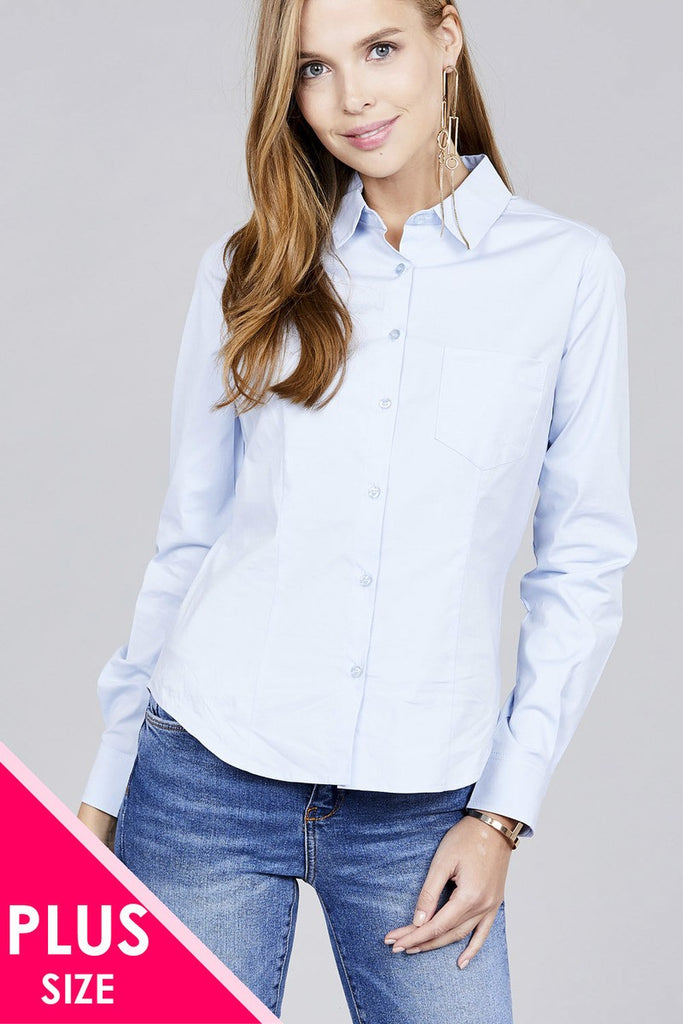 BERTHA Long sleeve button down stretch shirt