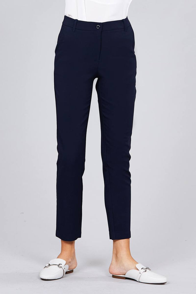 EUNY seam side pocket classic long pants