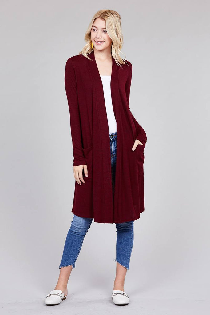 AMALIA long sleeve open front cardigan