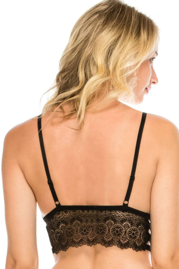 Side cage lace bralette