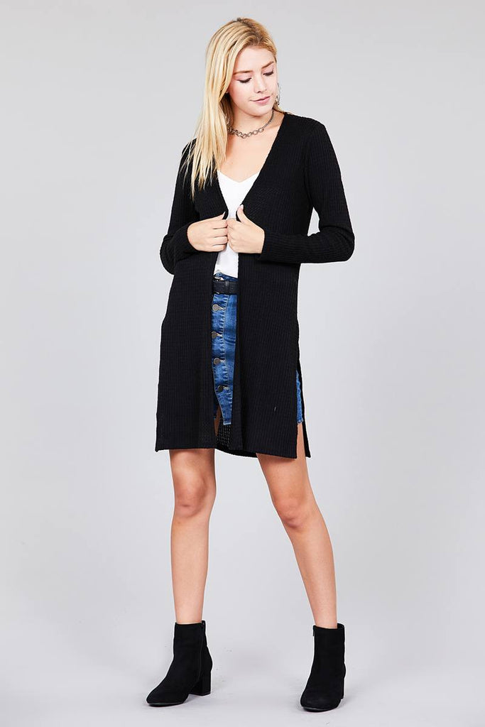 CECILIA Long sleeve open cardigan