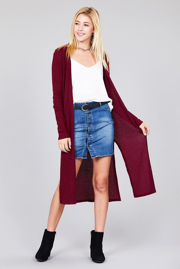 CANDACE Long sleeve open cardigan