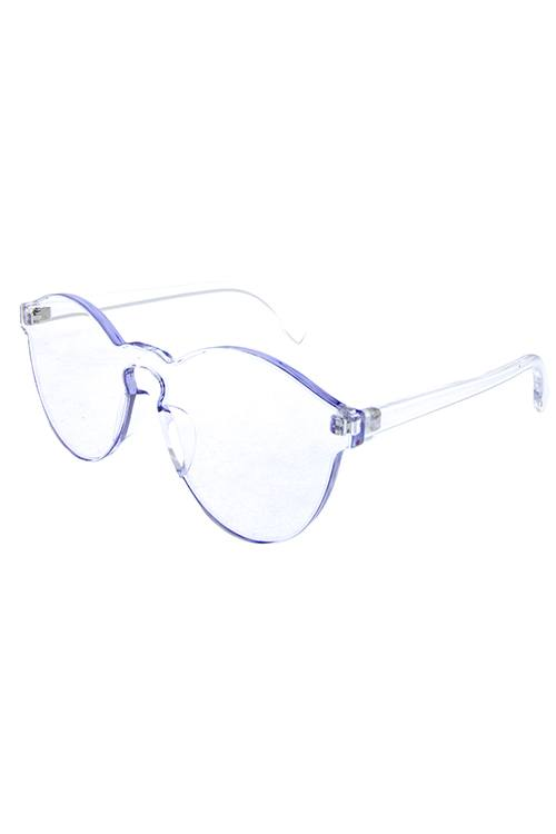 VALE thick transparent rimless horn sunglasses