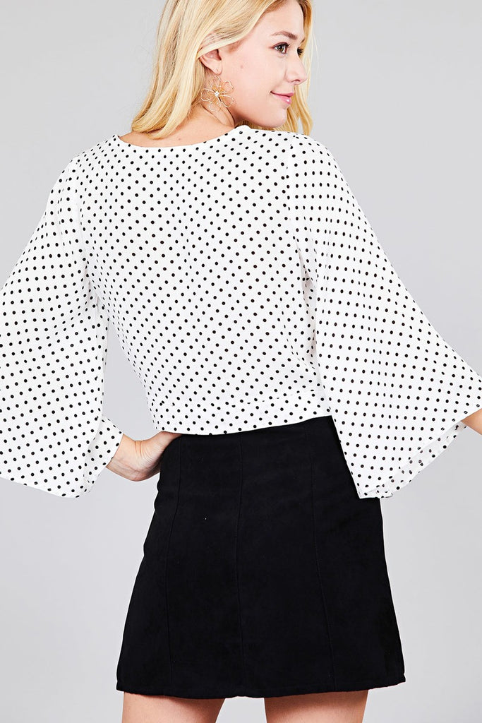 IVY 3/4 bell sleeve woven top