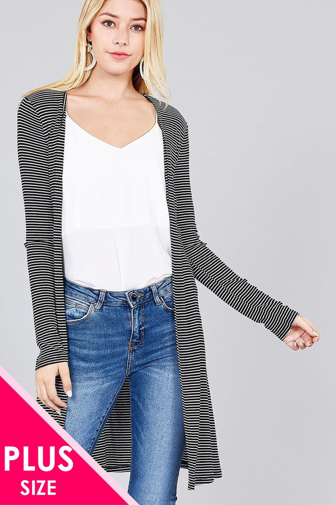 CARYN Long sleeve open cardigan