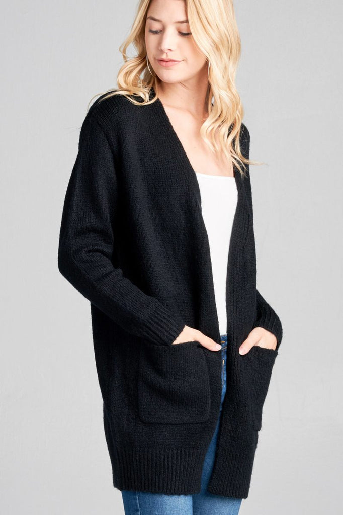NICKI Long sleeve open cardigan