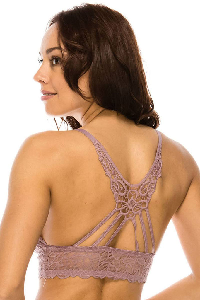 Lace and strappy racer back style