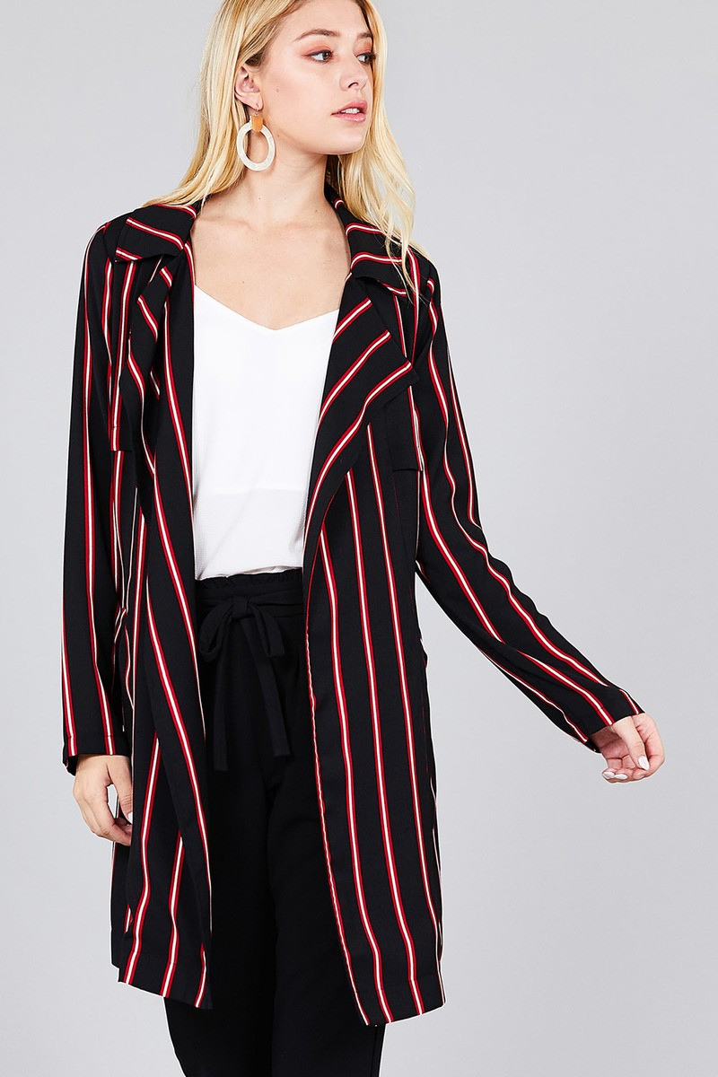 SYDNEY Long sleeve notched collar jacket