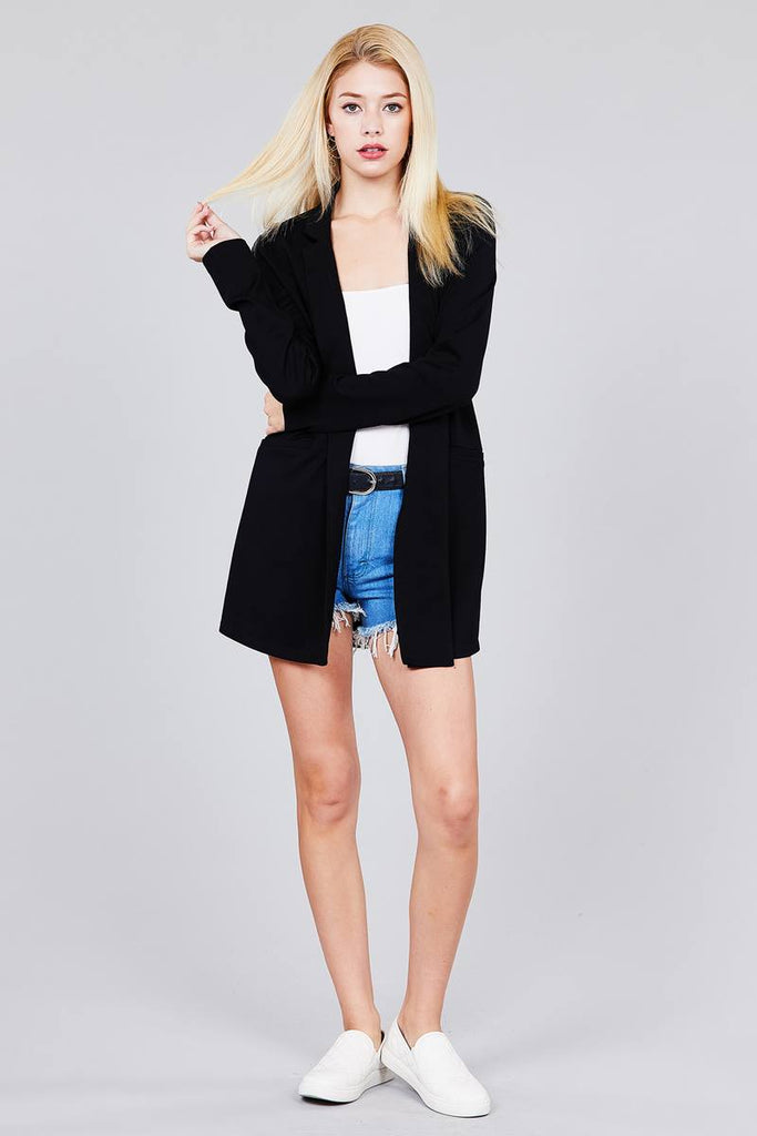 LONDYN Long Sleeve Notched Collar W/pocket Tunic Jacket