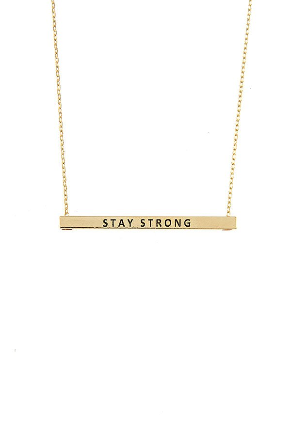 Stay Strong Bar Necklace