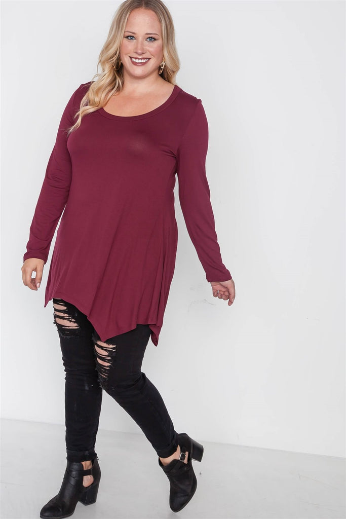 LONDON Long Sleeve Basic Top